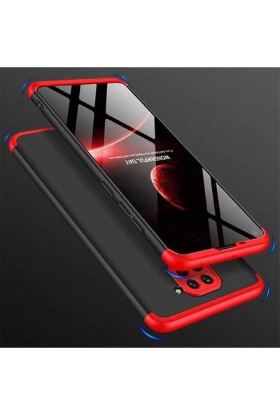 Case 4U Xiaomi Redmi Note 9 Kılıf 360 Derece Korumalı Tam Kapatan Koruyucu Sert Silikon Ays Arka Kapak Siyah