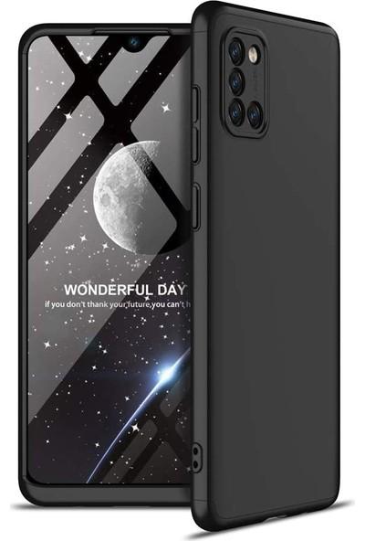 Case 4U Samsung Galaxy S10 Lite Kılıf 360 Derece Korumalı Tam Kapatan Koruyucu Sert Silikon Ays Arka Kapak Siyah