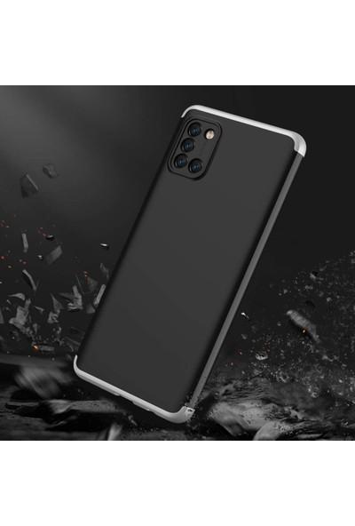 Case 4U Samsung Galaxy Note 10 Lite Kılıf 360 Derece Korumalı Tam Kapatan Koruyucu Sert Silikon Ays Arka Kapak Siyah Gümüş