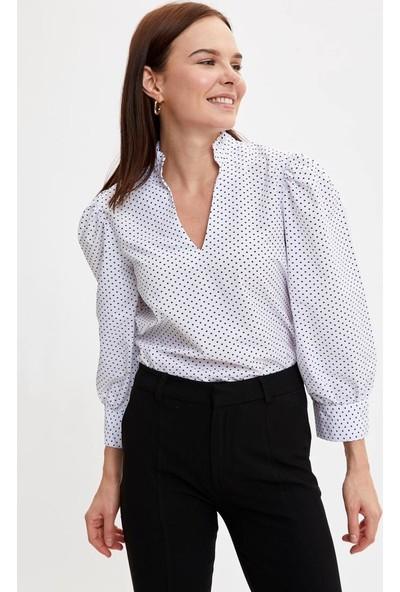 DeFacto Regular Fit Uzun Kollu Bluz