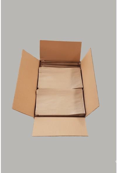 Ecosys Ambalaj 17X29X6 cm 1300 Adet/Koli Kraft Kağıt Poşet Kahverengi Çizgili Baskısız Kese Kağıdı