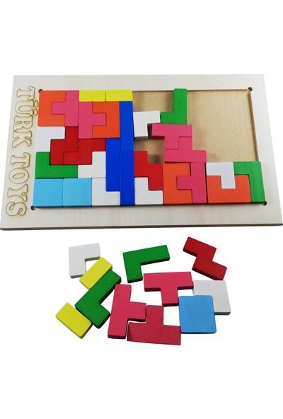 Türk Toys Ahşap Tetris Şekiller Puzzle