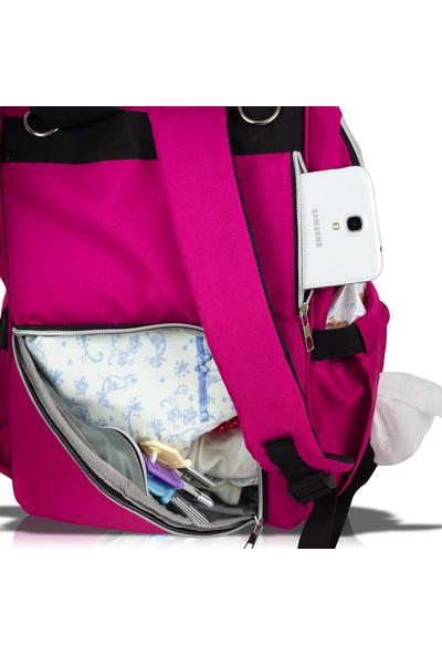Bavyera Mio Bambino Anne Bebek Bakım Çantası Alt Açma ve Puset Askılı
