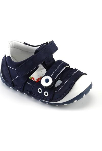 Kaptan Junior İlkadım Deri Erkek Bebek Çocuk Ayakkabı Patik Imse 802 Lacivert