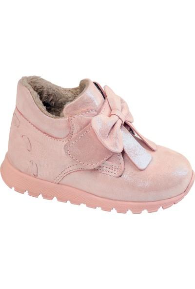 Kaptan Junior Kız Deri Bebek Ayakkabı Bot Bdrk 701 Pembe