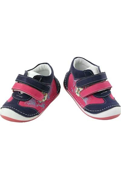 Kaptan Junior Kız Deri Bebek Ayakkabı Bot Brzk 306 Fuşya