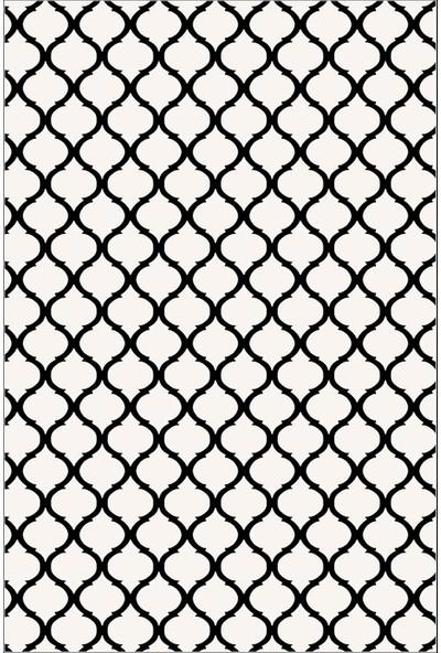 Colizon Dekoratif Yıkanabilir Kaymaz Tabanlı Halı TYKD-2166BEYAZ