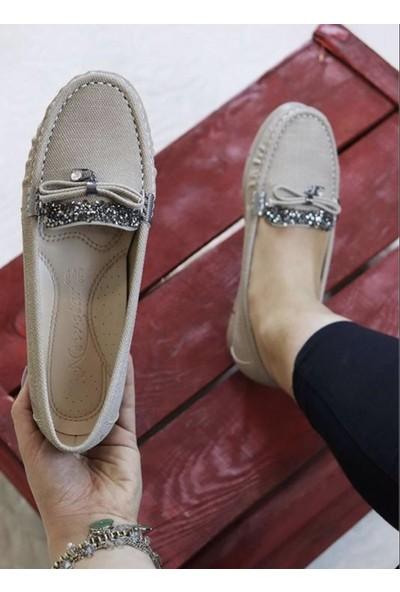 Divamod New Star Taşlı Vizon Günlük Kadın Ayakkabı