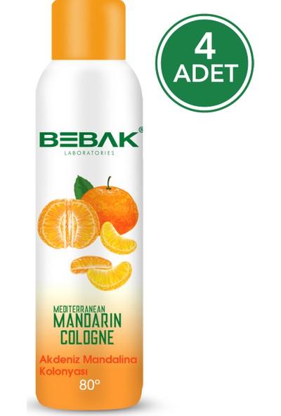 Bebak Sprey Kolonya Mandalina 150 ml 4 Adet