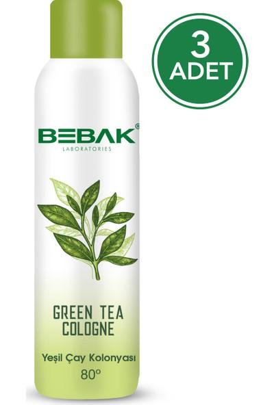 Bebak Sprey Kolonya Yeşilçay 150 ml 3 Adet