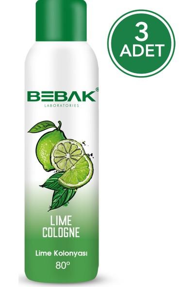 Bebak Sprey Kolonya Lime 150 ml 3 Adet