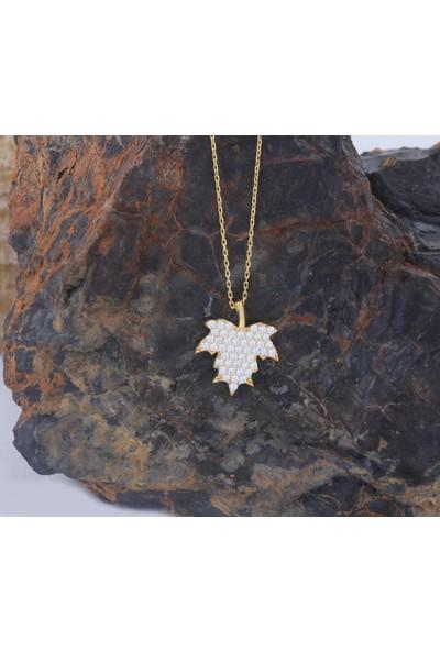 Leta Takı 18 Ayar Altın Kaplama Swarovski Pırlanta Gümüş Kolye
