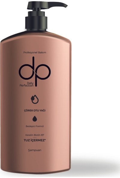 Dp Daily Perfection Çörekotu 800 ml Tuzsuz Şampuan