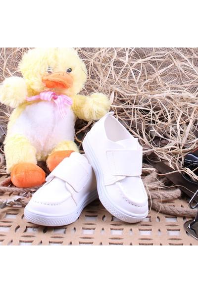 Akıllı Şirin İlk Adım Kız Çocuk Mevsimlik Ayakkabı Beyaz