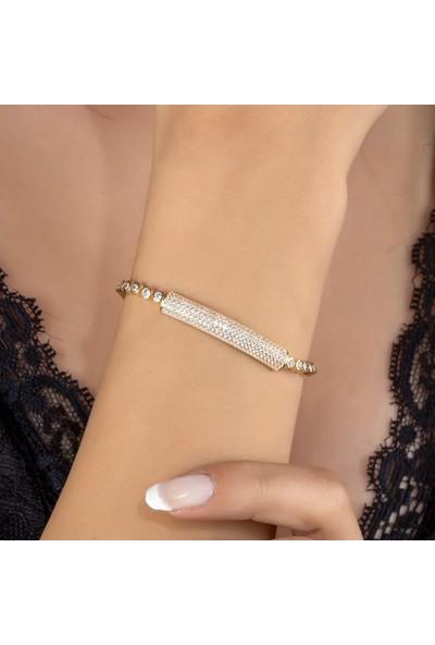 Else Silver Pırlanta Modeli Gümüş Bileklik