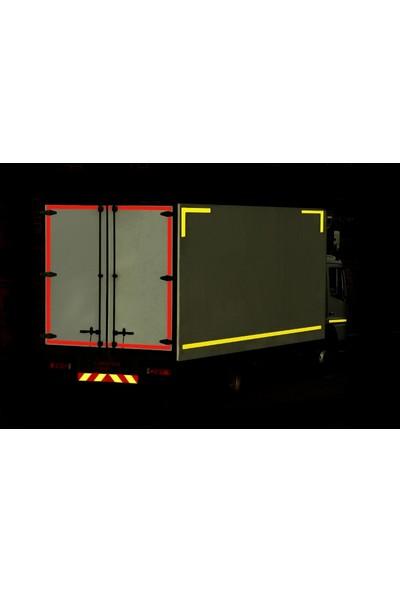 Mfk Plastik Sarı Petekli Reflektif Bant MFK8406 5 x 46 m