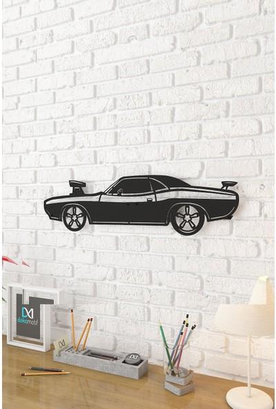 Dekomotif Dodge Challenger Metal Tablo Araba Figürlü Metal Dekor