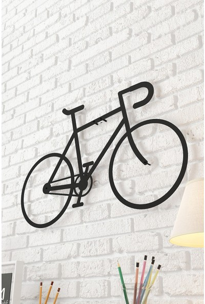 Dekomotif Fixie Bike Metal Tablo Bisiklet Temalı Metal Dekor