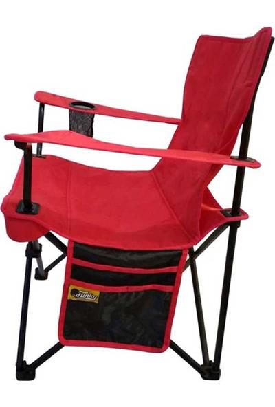 Funky Chaırs V2 Kırmızı Lüks Kamp Sandalyesi