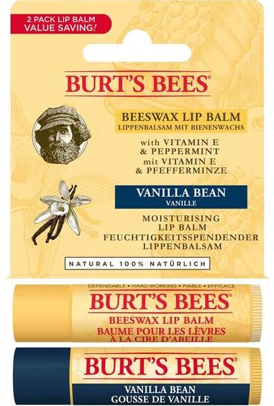 Burt's Bees Burts Bees 2li Lip Balm Set (Beeswax + Vanilya)