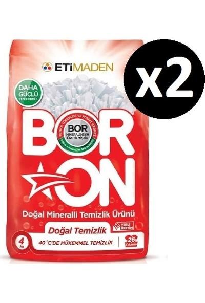 Boron Doğal Mineralli Temizlik Ürünü Doğal Temizlik Beyazlar 4 kg x 2 Adet (52 Yıkama)