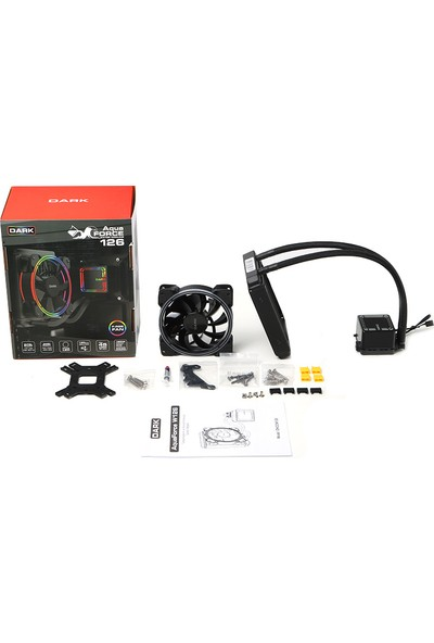 Dark AquaForce W126 12cm FRGB LED Fan + Pompa, Intel & AMD Uyumlu Sıvı Soğutma Sistemi (DKCCW126)