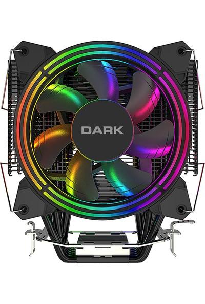 Dark Freezer X128 2x12cm FRGB LED Intel & AMD Uyumlu PWM Fanlı 4x Isı Borusu İşlemci Soğutucu (DKCCX128)