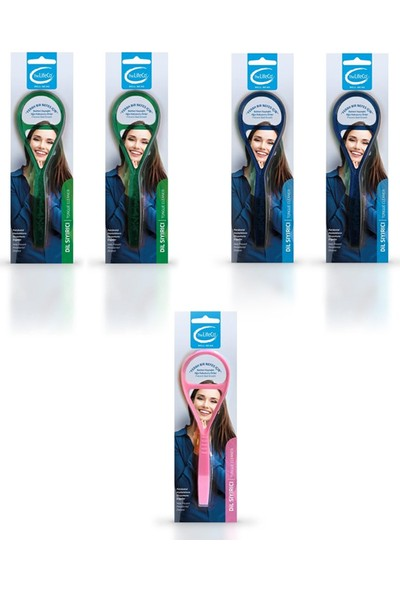The Lifeco Dil Sıyırıcısı - 5'li Paket 2 Mavi - 2 Yeşil - 1 Pembe