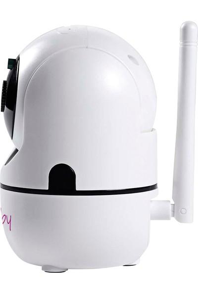 Elfobaby HD 355º Dönebilen Gece Görüşlü Wi-Fi Dijital Bebek ve Güvenlik Kamerası