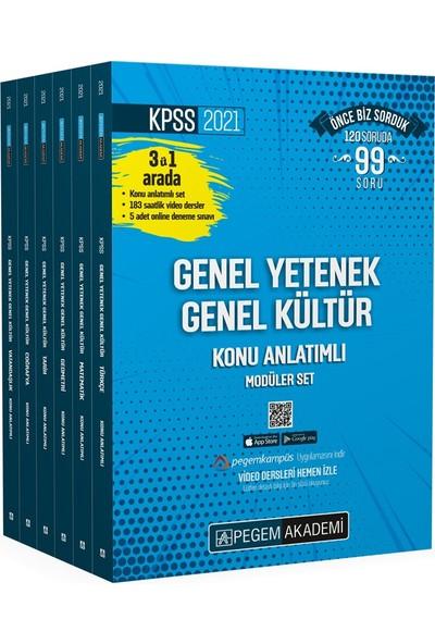 Pegem Akademi KPSS 2021 Genel Yetenek Genel Kültür Video Destekli Konu Anlatımlı Modüler Set (6 Kitap Takım)