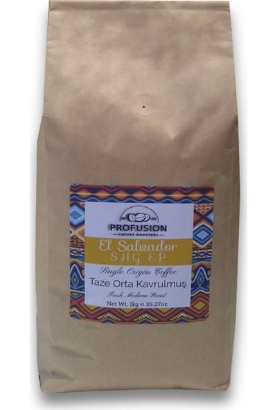 Profusion Coffee Single Origin Taze Kavrulmuş El Salvador Shg 1 kg Kahve Çekirdek (Öğütülmemiş)