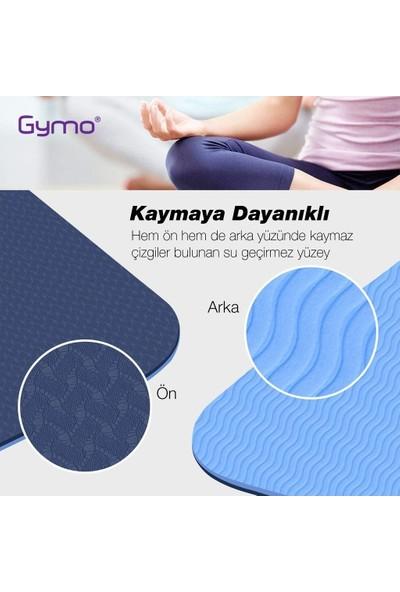 Gymo Hizalamalı 6mm TPE Yoga Matı Pilates Minderi