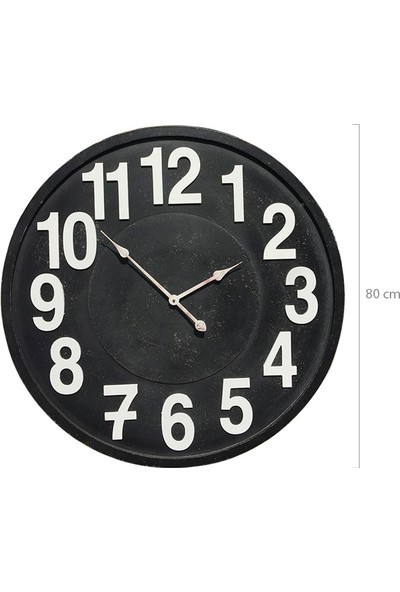 Platin Saat 80 cm Big Old Büyük Ahşap Duvar Saati Modeli