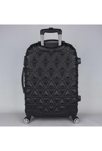 Bagacar Abs Star 3'lü Valiz Seti 8 Tekerlek Valiz Siyah
