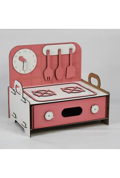 Hayal Oyuncak Montessori Ahşap Mutfak Oyun Evi Ocak Portatif Oyuncak