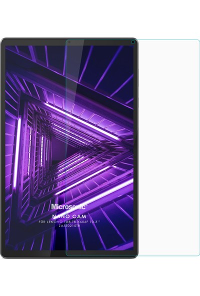 "Microsonic Lenovo Tab M10 Plus TB-X606F 10.3"" (ZA5T0215TR) Nano Glass Ekran Koruyucu Şeffaf"