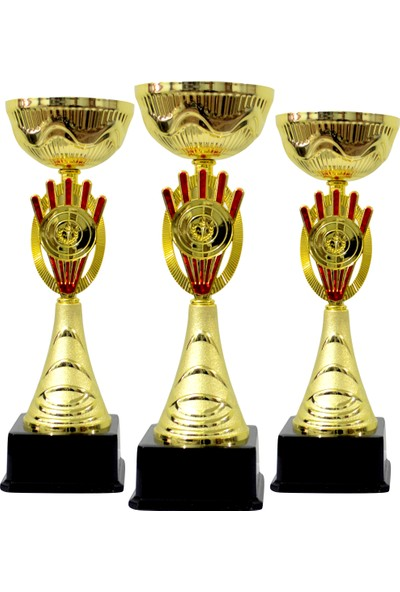 Hazal Spor Kişiye Özel Metal Ödül Kupası K42 - 3'lü Set