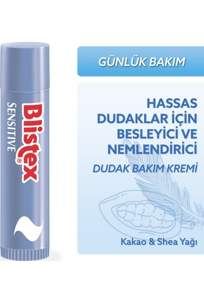 Blistex Sensitive Stick 4.25g - Hassas Dudaklar İçin Besleyici ve Yumuşatıcı Bakım