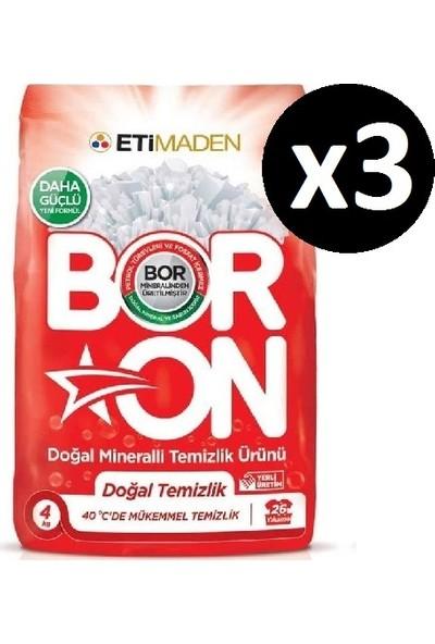 Boron Doğal Mineralli Temizlik Ürünü Doğal Temizlik Beyazlar 4 kg x 3 Adet (78 Yıkama)