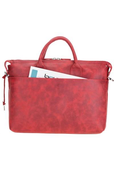 Bouletta Wizard Deri Notebook Evrak Çantası V4EF Kırmızı