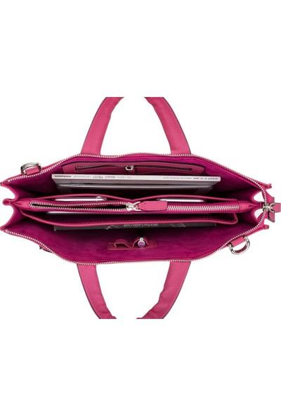 Bouletta Canzo Deri Notebook Evrak Çantası Drop Fuşya