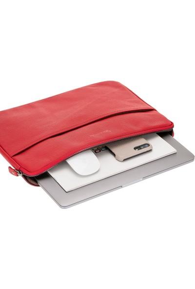 """Bouletta Awe Deri Tablet-iPad-PC Çantası 15"""" Drop2 Kırmızı"""