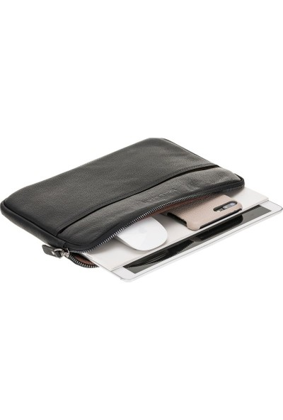 """Bouletta Awe Deri Tablet-iPad-PC Çantası 15"""" Drop1 Siyah"""