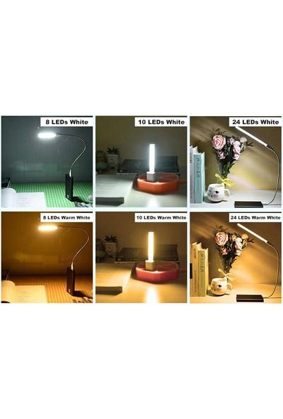 Serel Comtech Taşınabilir USB 8 LED Işık Lamba Kamp Piknik Gece Lambası