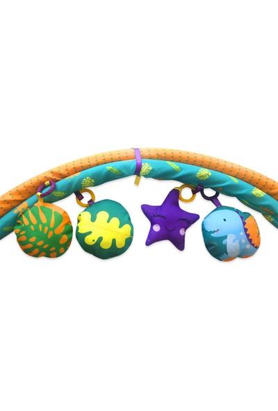 Bebi-Şo Bebek Kumaş Yastıklı Dino Oyun Halısı ve Bebek Oyun Alanı