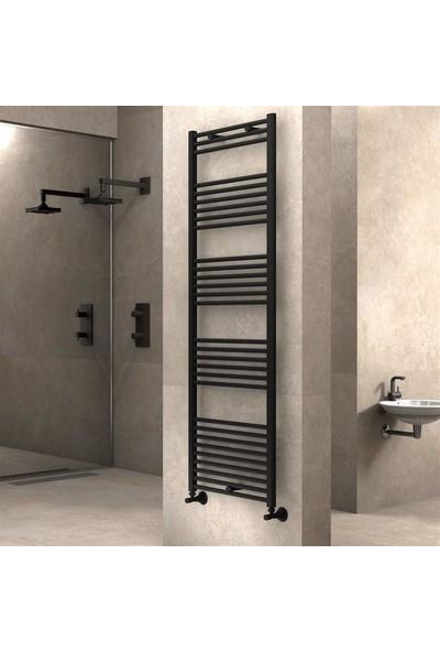 Radiva Banyo ve Mutfak Için Havlupan 600 x 1800 mm Düz Mat Siyah
