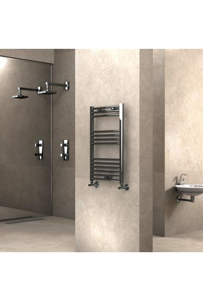 Banyo ve Mutfak Için Havlupan 500 x 800 mm Düz Krom