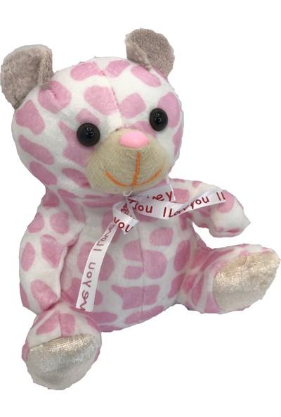 Stuffed Toys Sevimli Peluş Leopar Desenli Pembe Ayı 20 cm