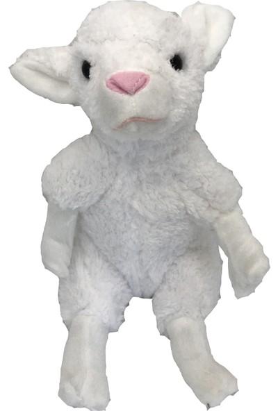 Stuffed Toys Sevimli Peluş Beyaz Kuzu 30 cm