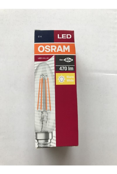 Osram LED Value 4W B40 2700K E14 Led Filament Mum Buji Ampul 10'lu